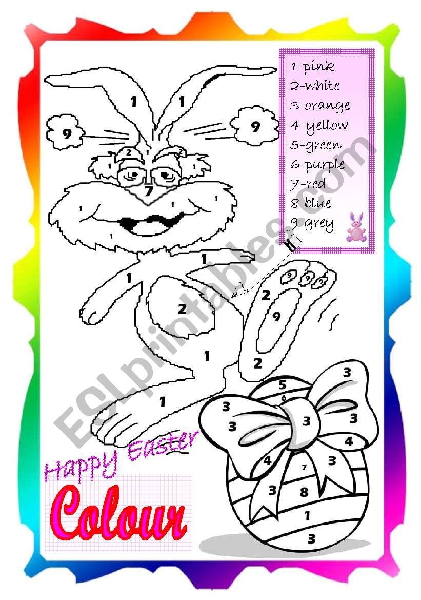 Easter Colour worksheet