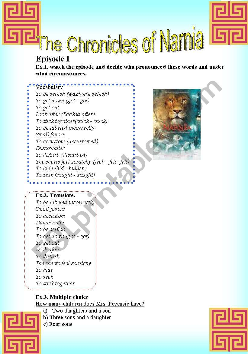 The Chronicles of Narnia, episode 1 (2pages)