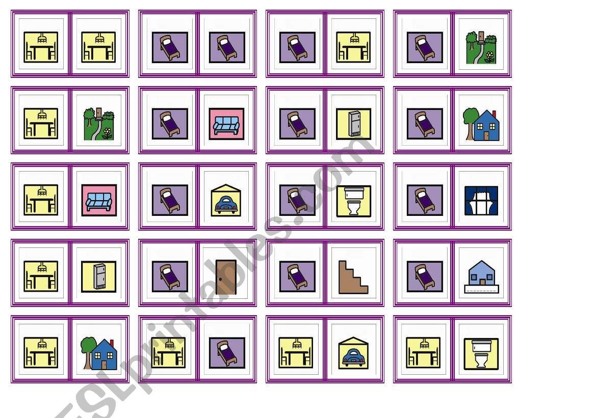 house dominoes worksheet