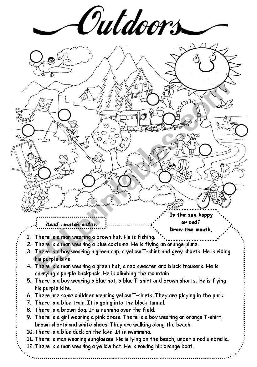 Outdoors (1) worksheet