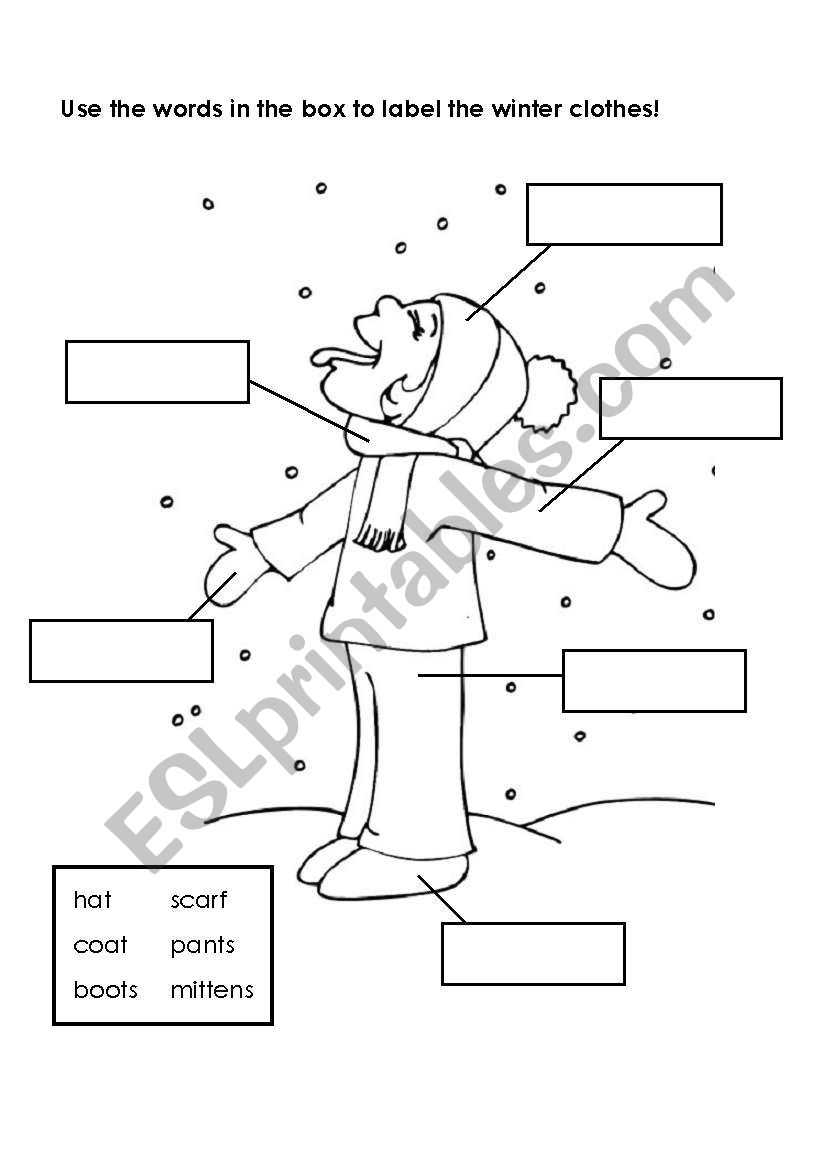 labeling winter clothes esl worksheet by british52. Black Bedroom Furniture Sets. Home Design Ideas