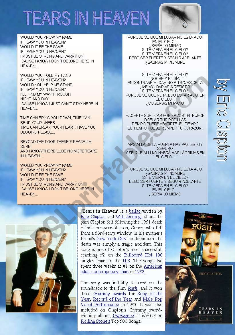 ERIC CLAPTON SONG ´TEARS IN HEAVEN´ (CONDITIONAL 2)