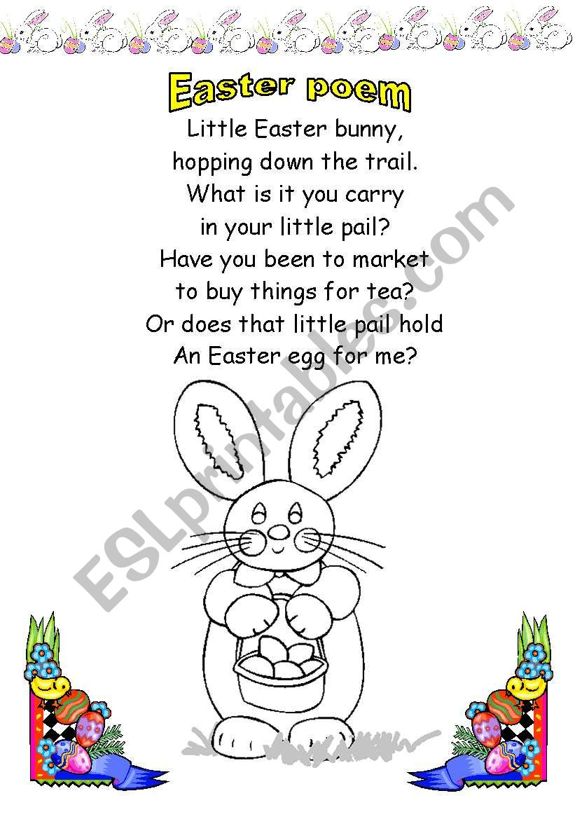 English Worksheets Easter Bunny