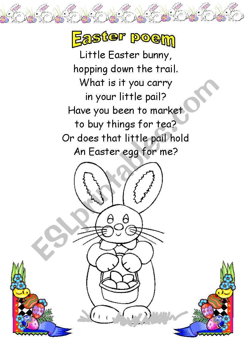 Easter Bunny Esl Worksheet By Fleur