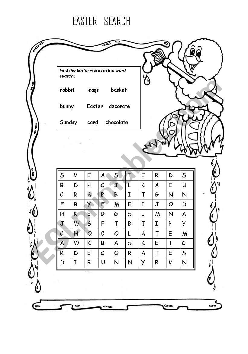 EASTER SEARCH worksheet