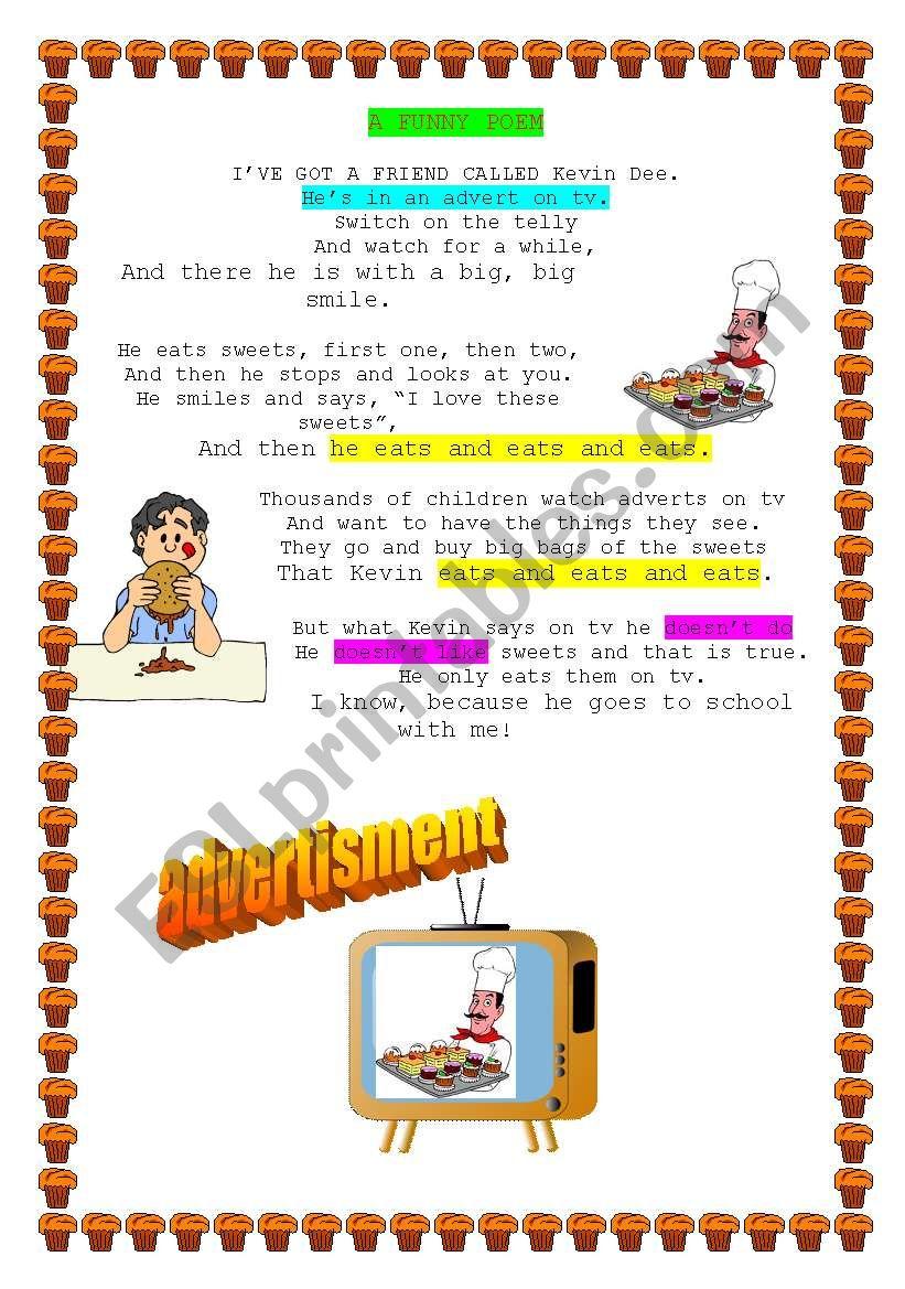a funny poem worksheet