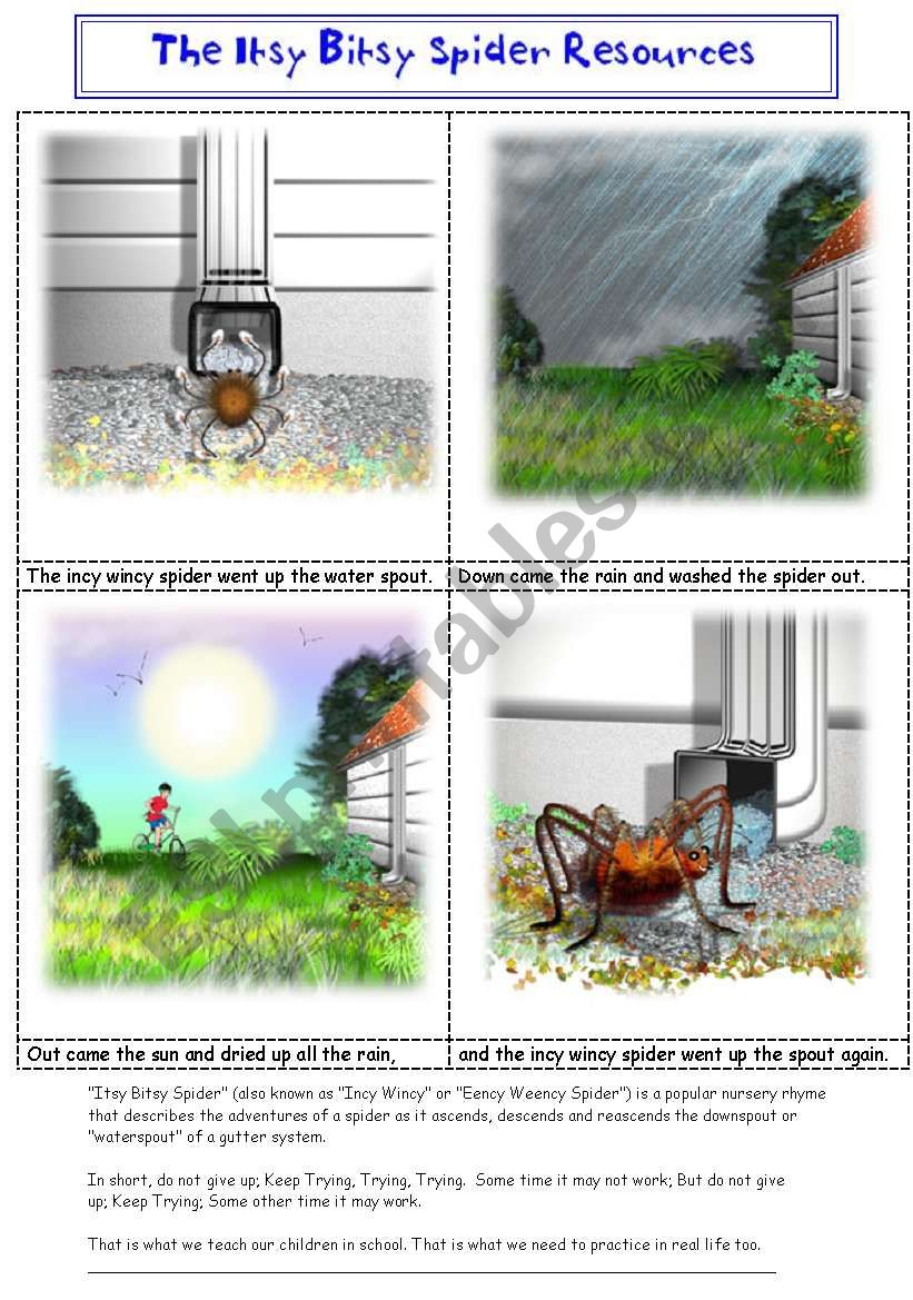 ITSY BITSY / INCY WINCY  SPIDER PICTURE STORY + RESOURCE PACK