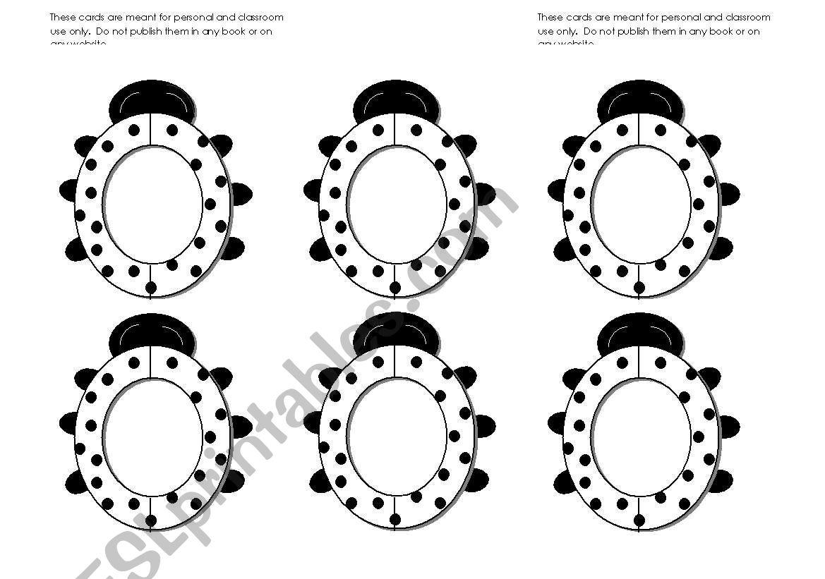 Lady Bug/ Lady Bird Frames Black and White (Use them with my ladybug gameboard.)