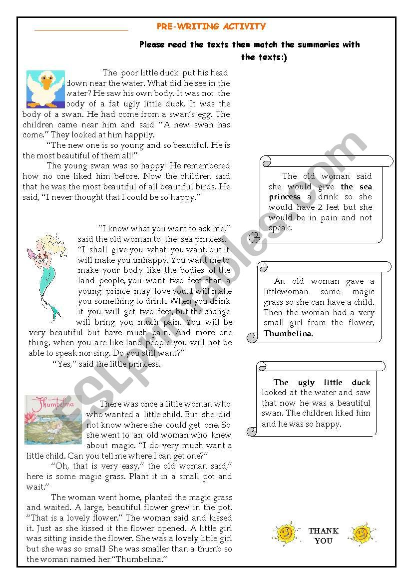 a complete lesson- short story and writing activities