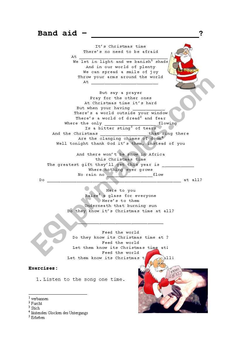 English worksheets: Do they know its christmas time