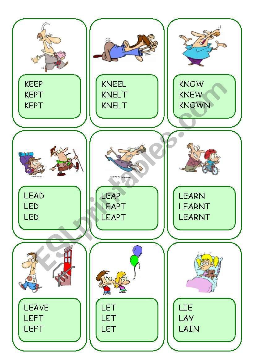 Irregular Verbs Card Game / Part 6