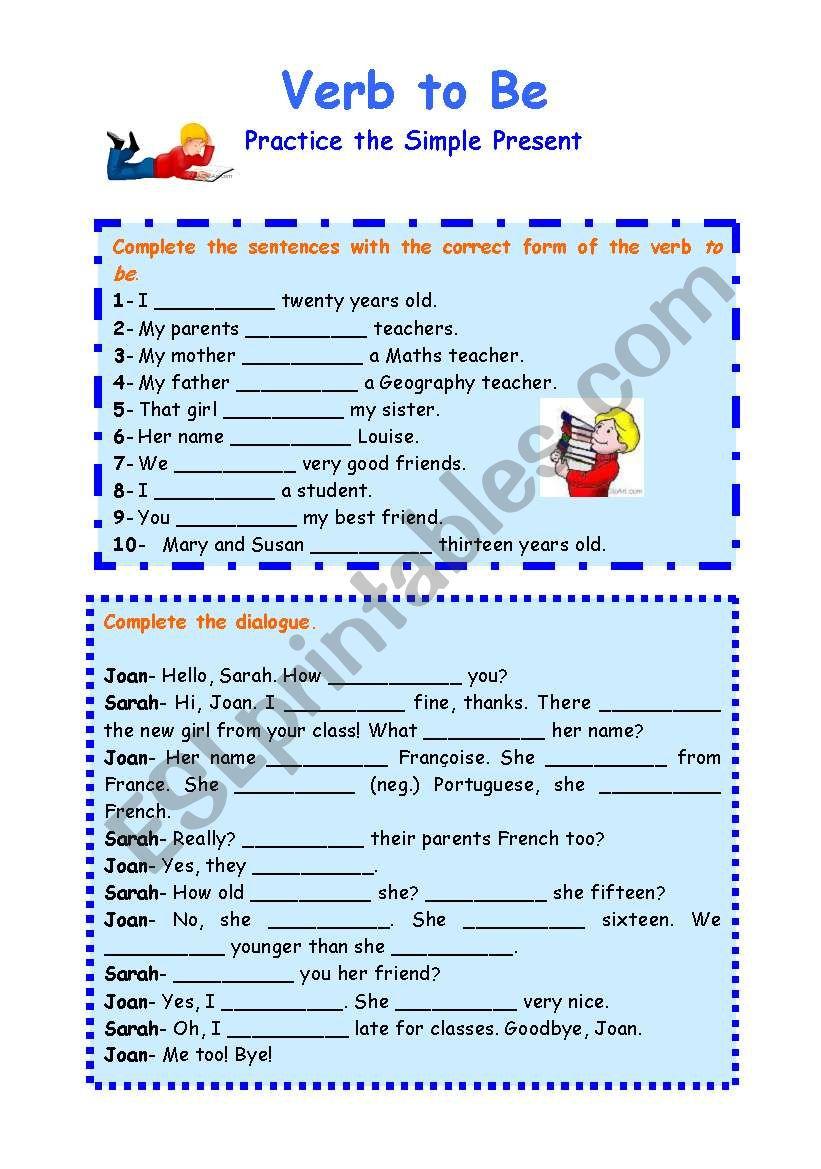 Verb to Be- Practice worksheet
