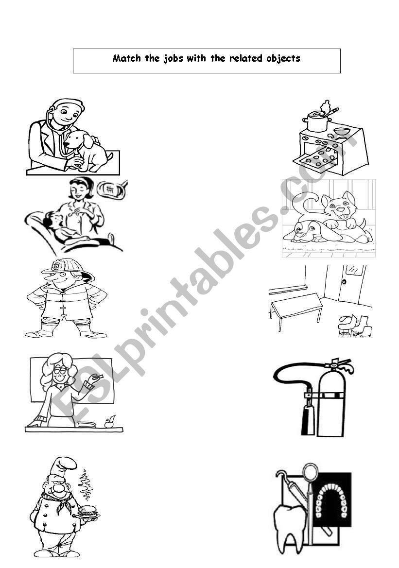 jobs and tools - ESL worksheet by plugin