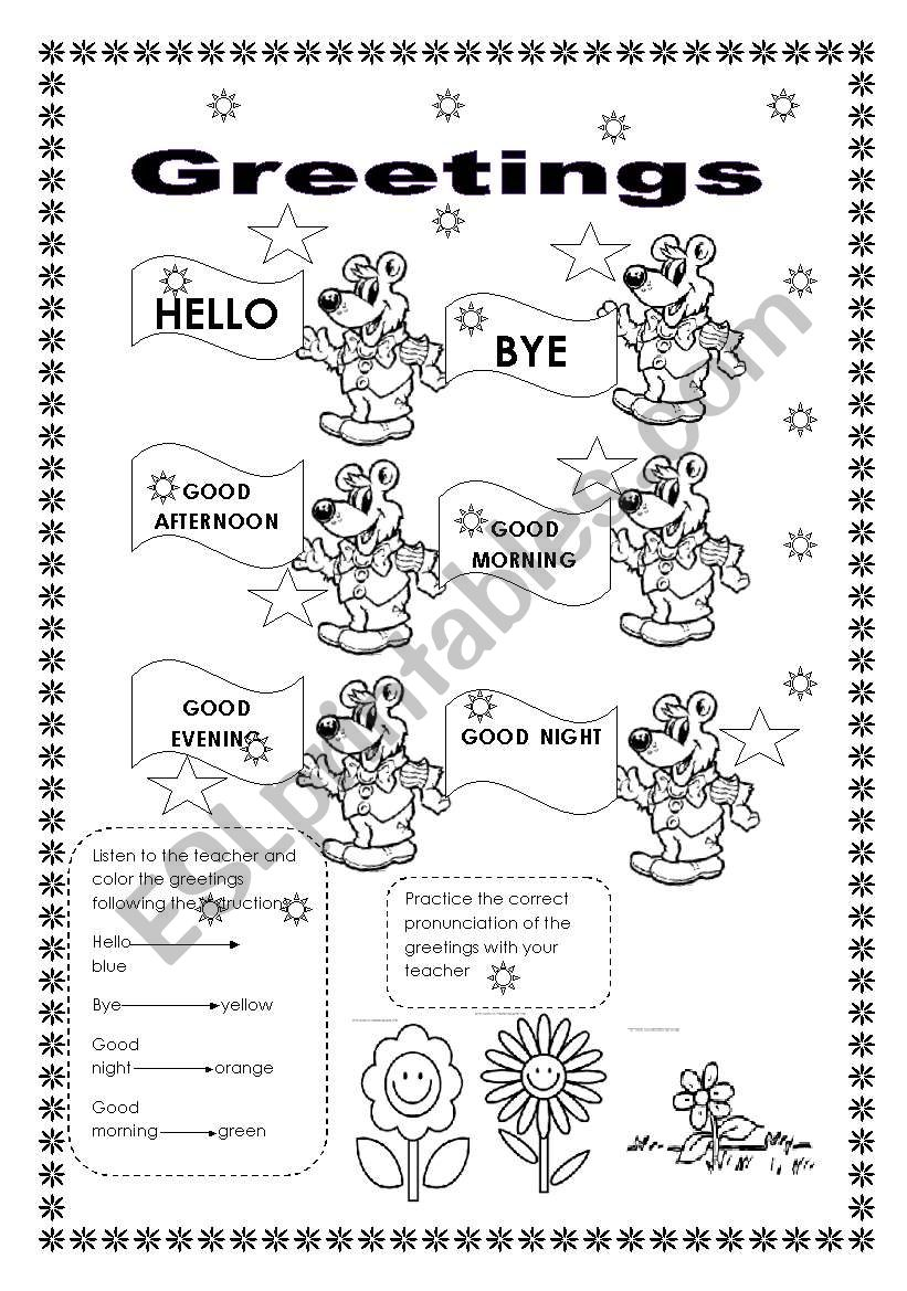 Greetings worksheet