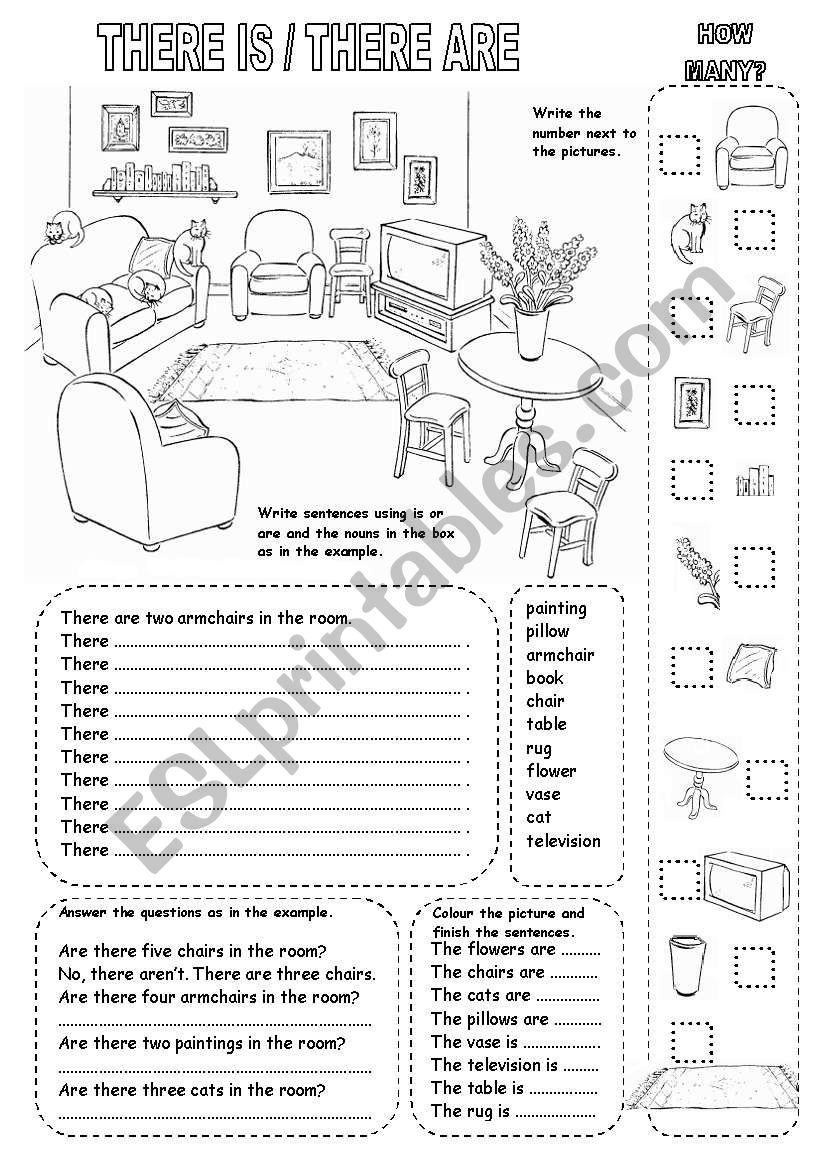 THERE IS / THERE ARE worksheet