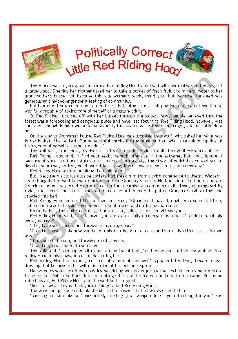 POLITICALLY CORRECT Little Red Riding Hood