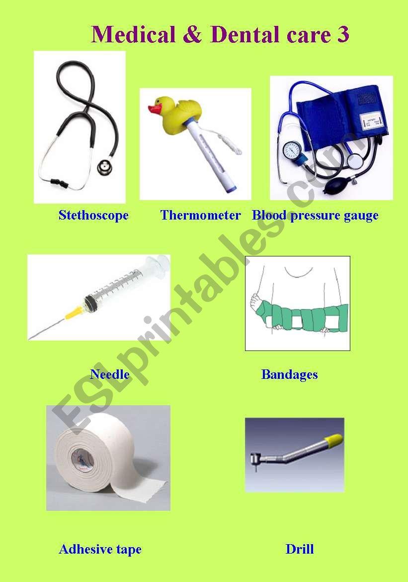 Medical & Dental Care Vocab Part 3