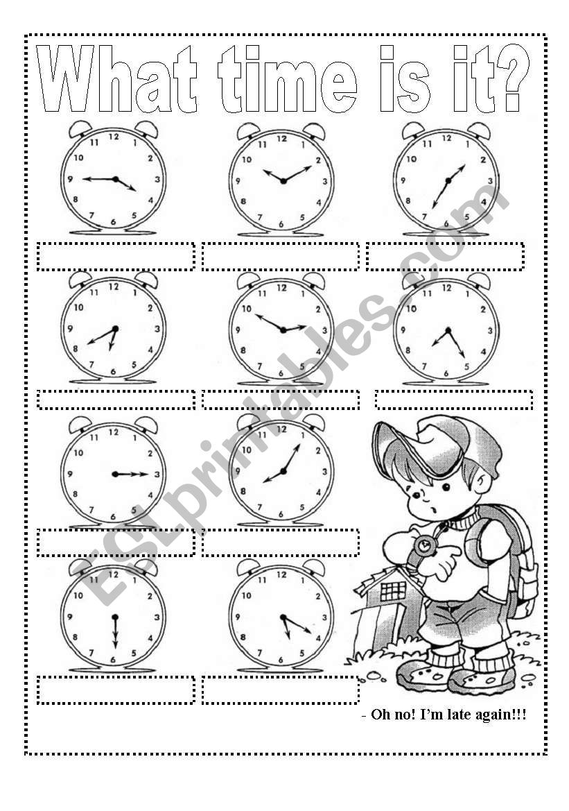 WHAT TIME IS IT? Exercises and Craft Clock (2 pags)