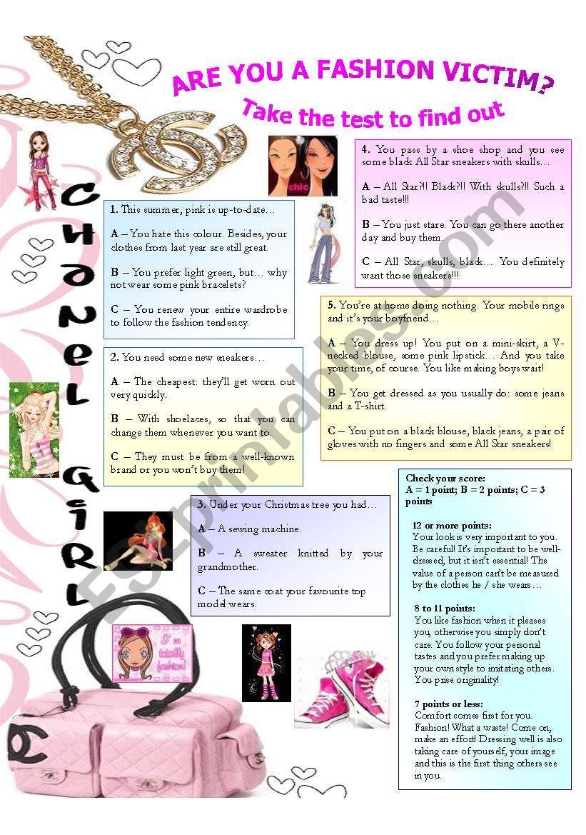 Quiz - Are you a fashion victim?