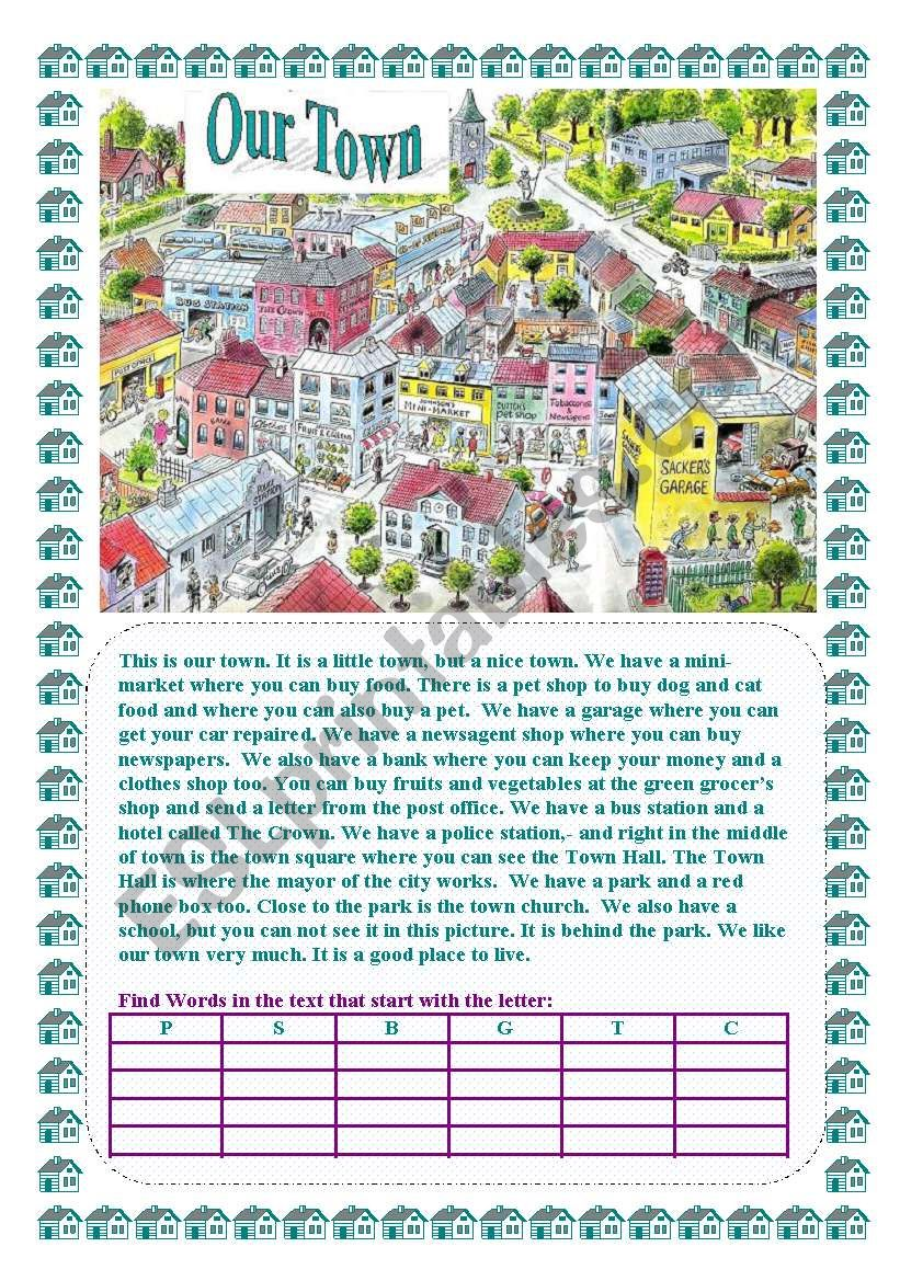 Our Town worksheet