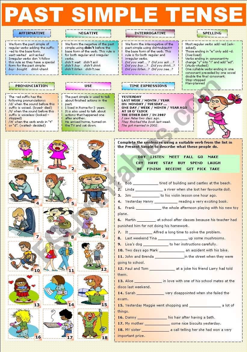 THE PAST SIMPLE TENSE worksheet