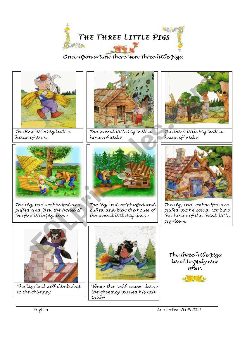 It's just an image of Resource Three Little Pigs Story Printable
