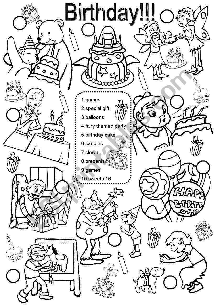 birthday esl worksheet by im lety. Black Bedroom Furniture Sets. Home Design Ideas