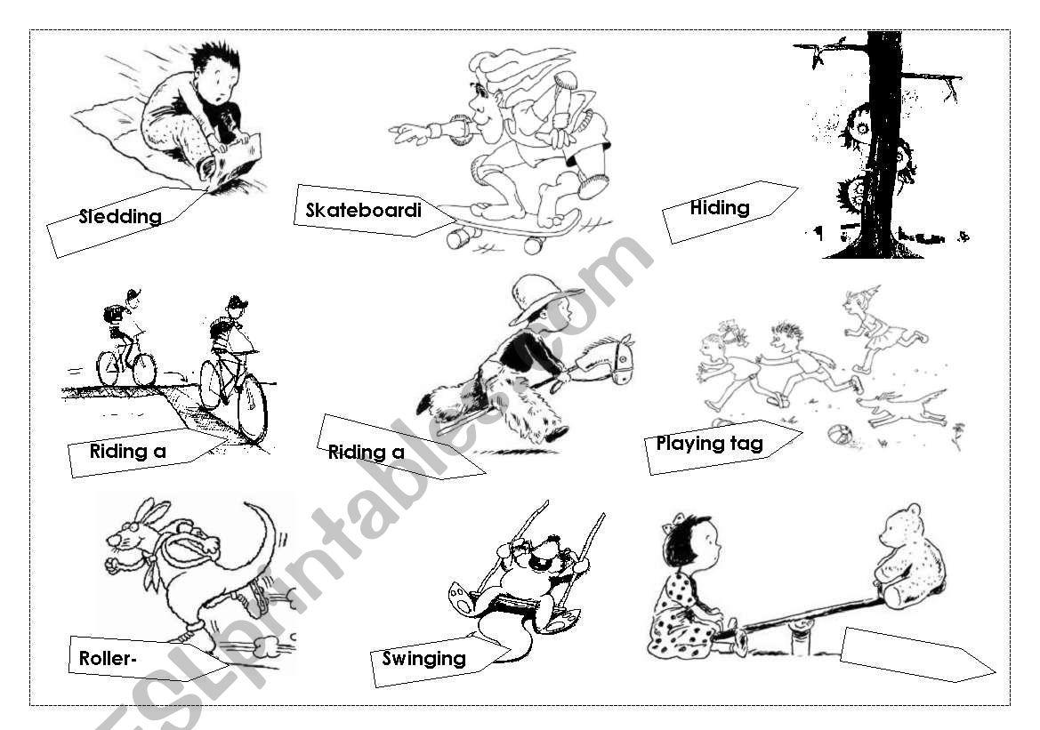 children´s activities worksheet