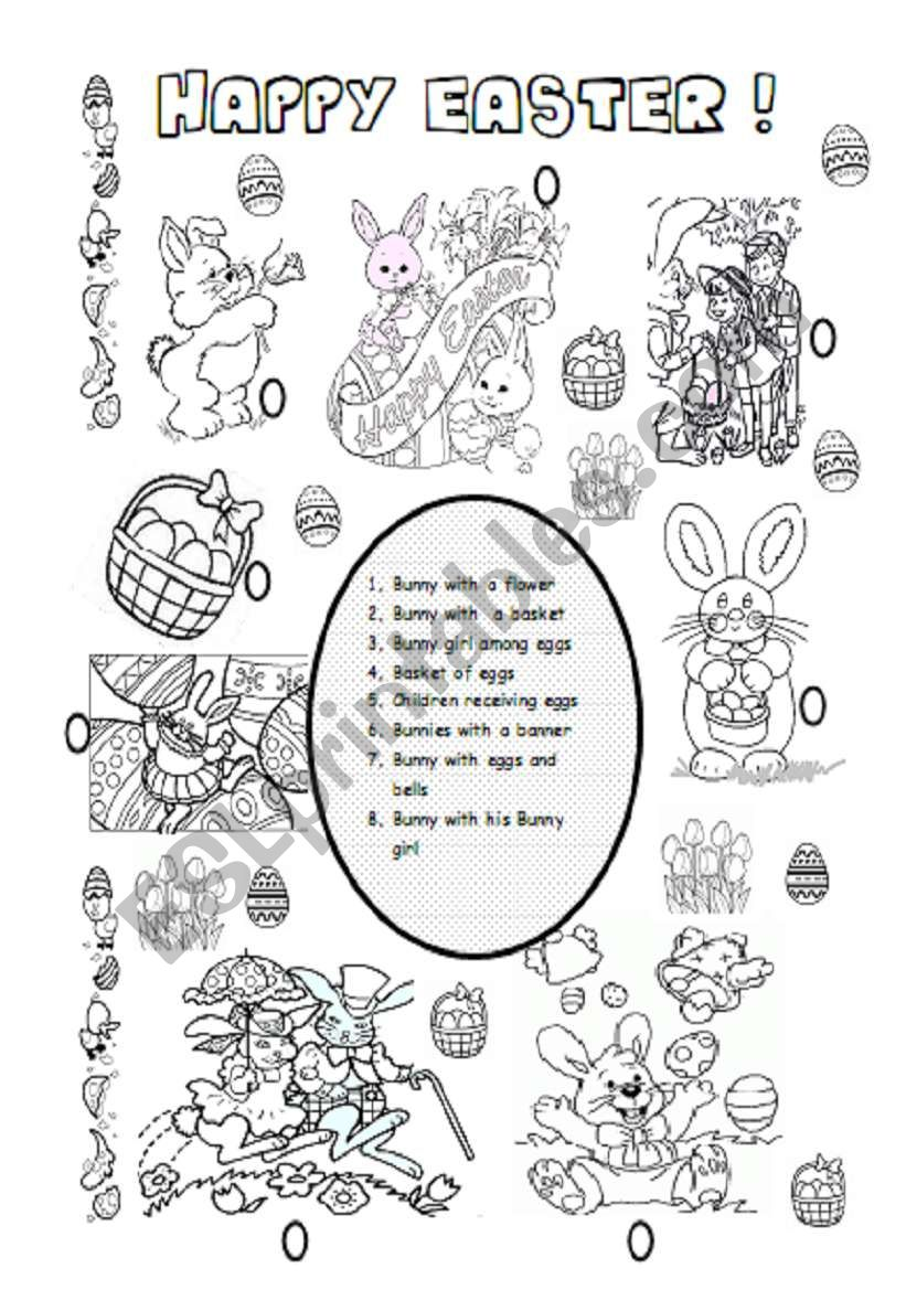 photo about Easter Puzzles Printable known as Satisfied Easter! - ESL worksheet by way of soasiglem