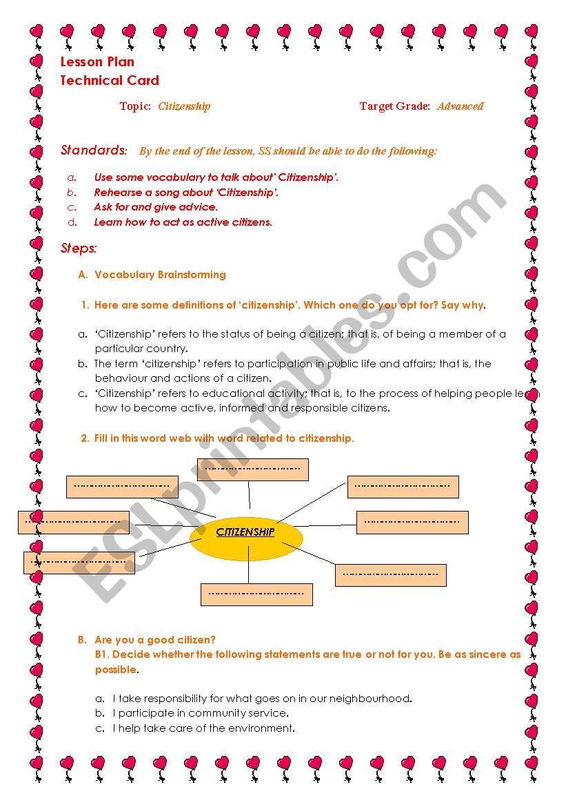 Active citizenship : Lesson Plan