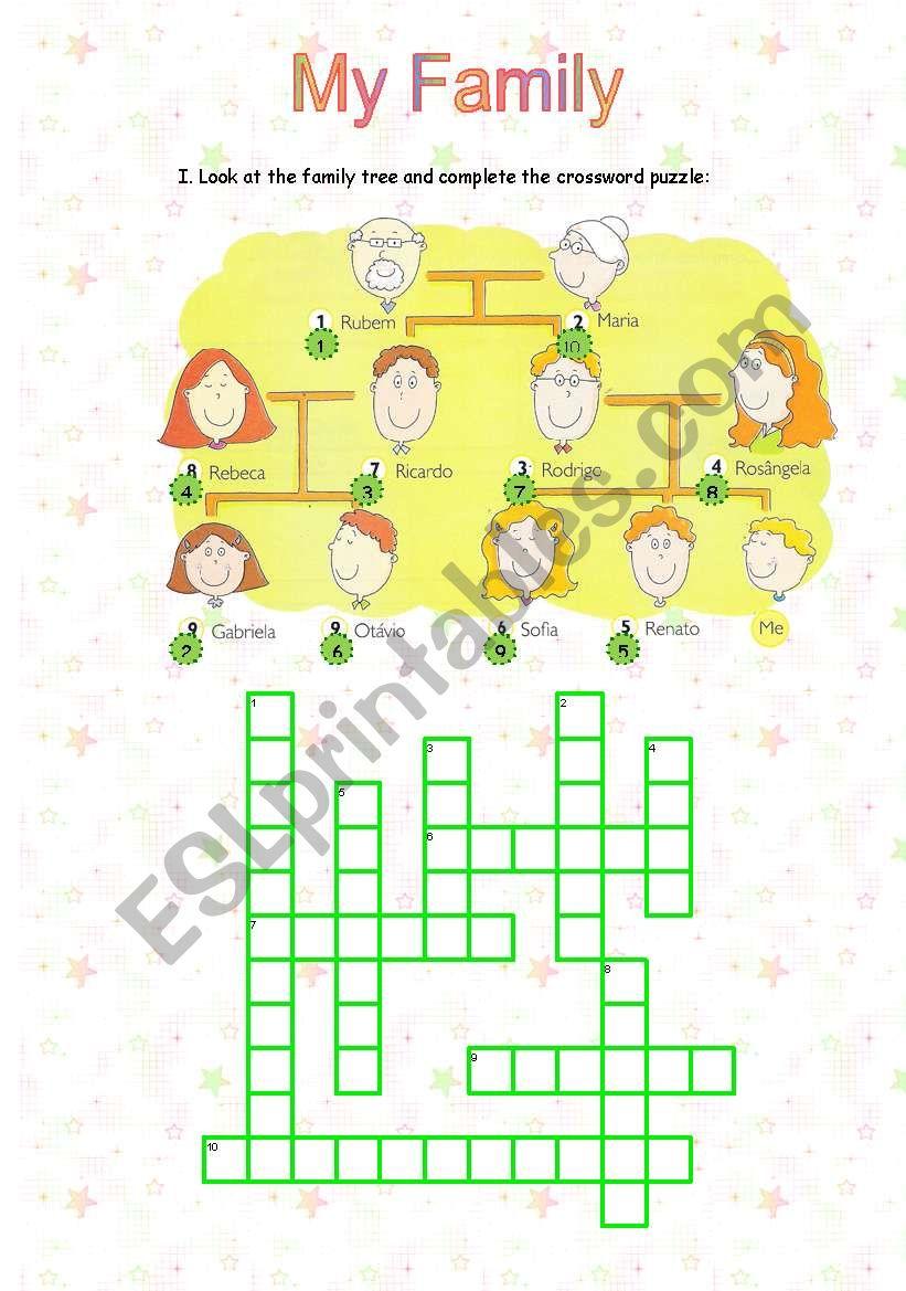 Family Crossword worksheet