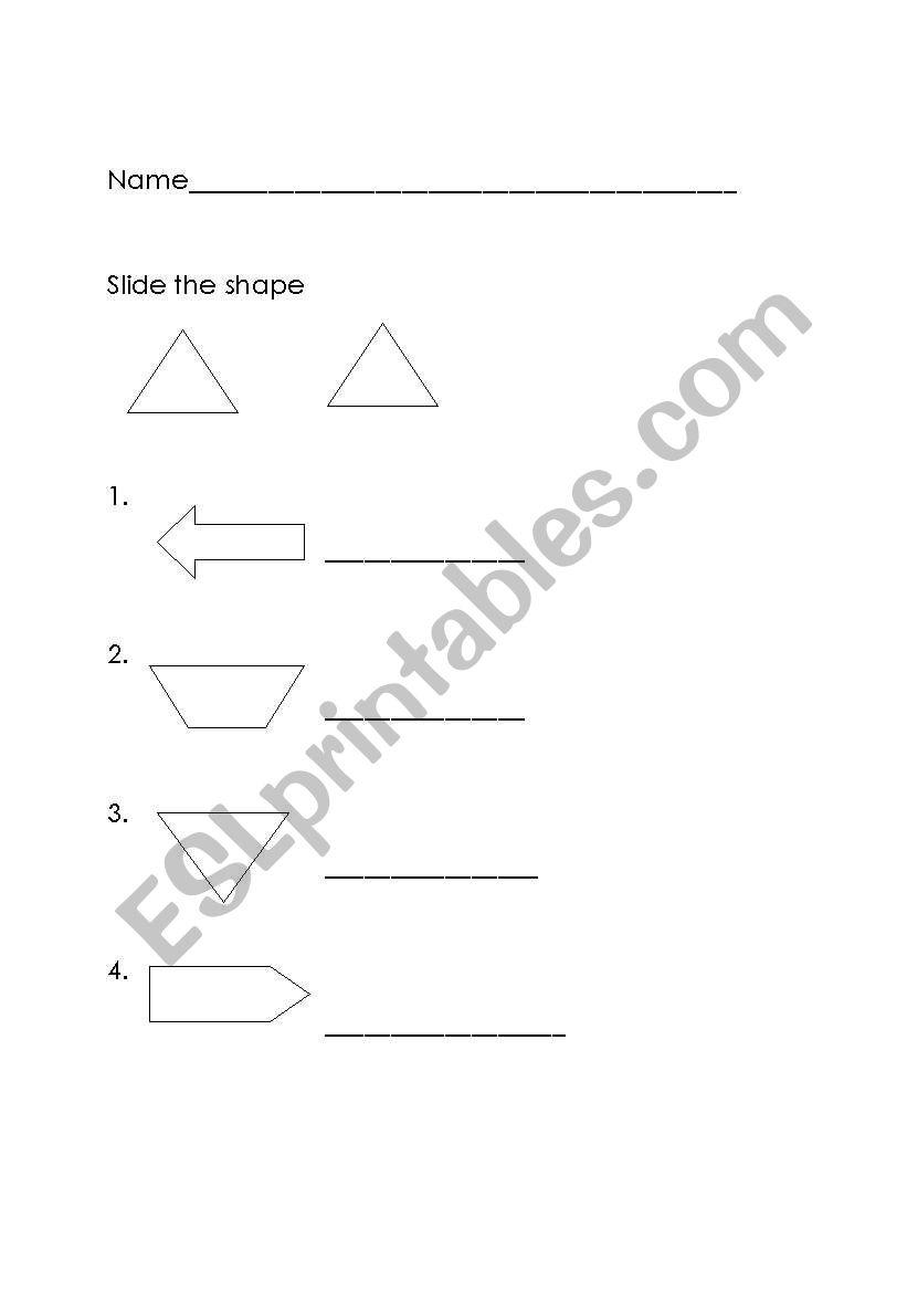 flip, slide worksheet