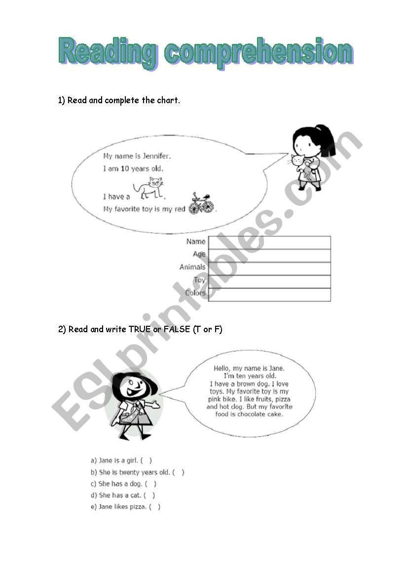 - English Worksheets: Reading Comprehension For Kids
