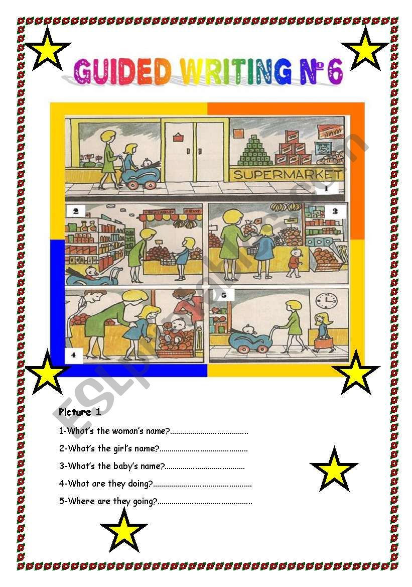 Guided writing  worksheet