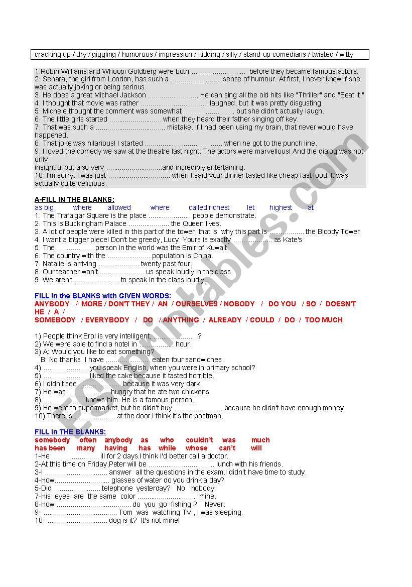 vocabulary building (1of 1) worksheet