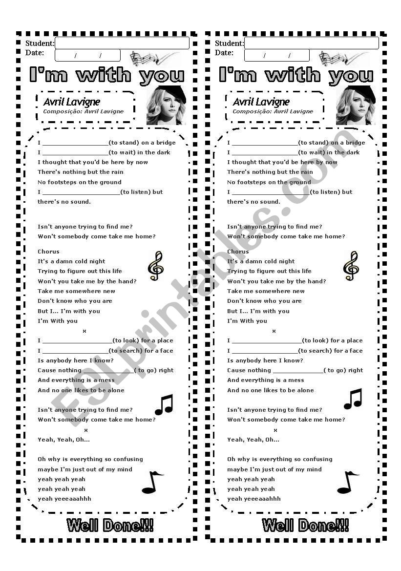 Present Continuous Using A Song 3 Pages Esl Worksheet By Elinha