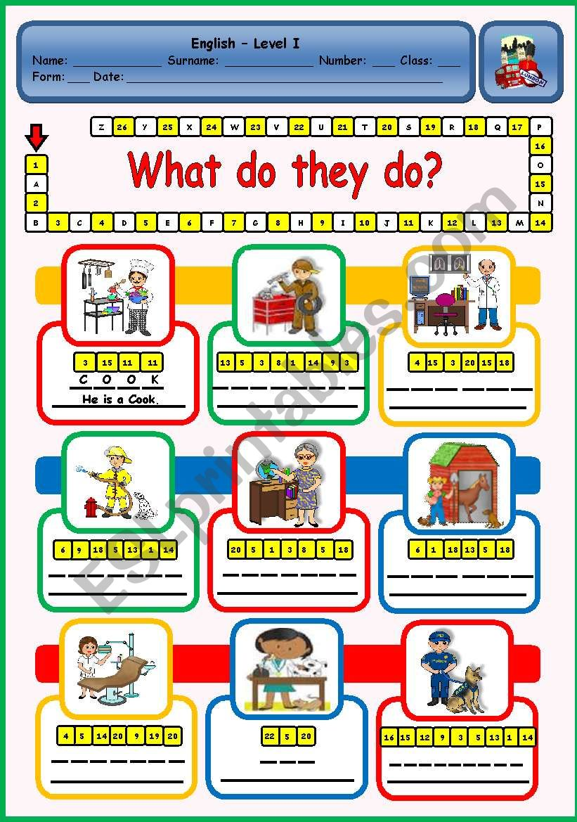 WHAT DO THEY DO?  - PUZZLE worksheet