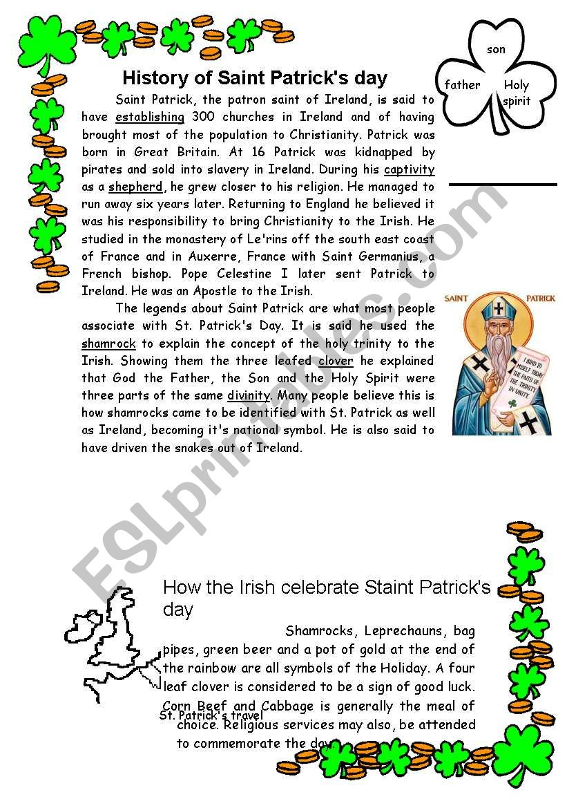 St. Patrick. History and tradition