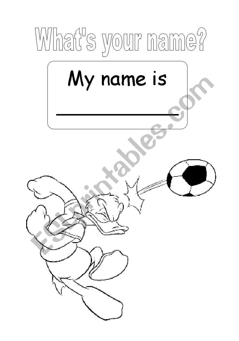 what´s your name worksheet