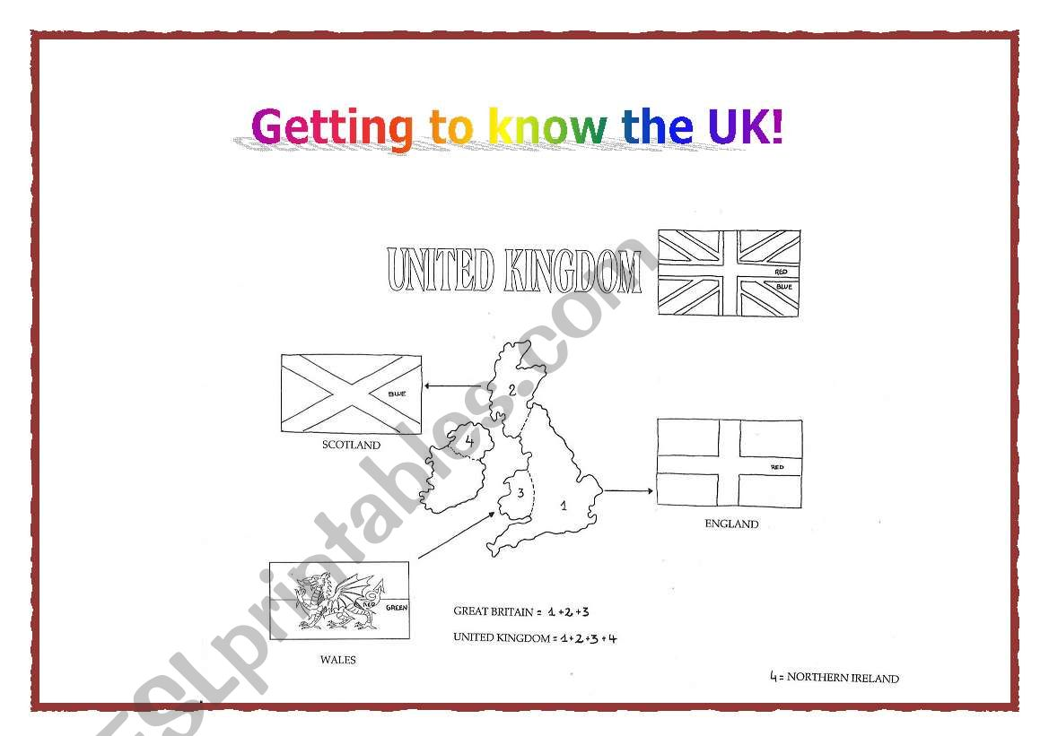 Getting to know the UK worksheet