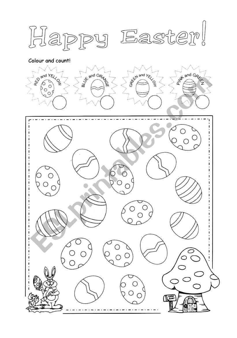 Easter eggs worksheet