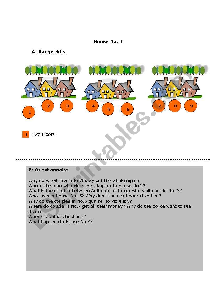 The Gossip Game! 6 Pages worksheet