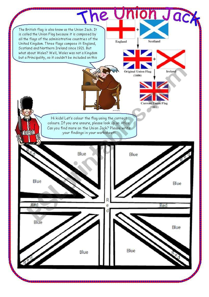 Union Jack worksheet