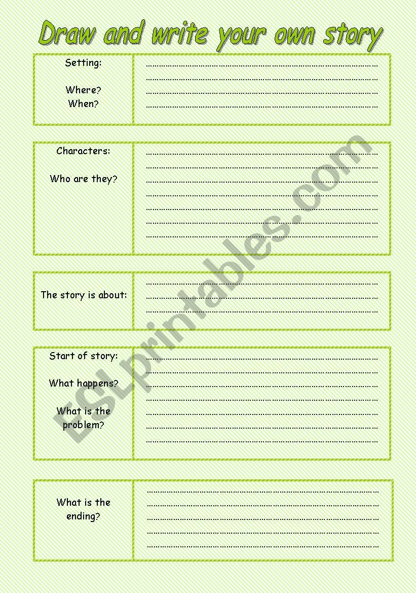draw and write your own story worksheet