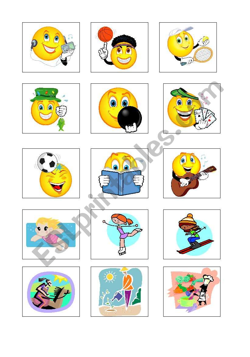 Free Time Activities Flashcards Esl Worksheet By Ajka 86