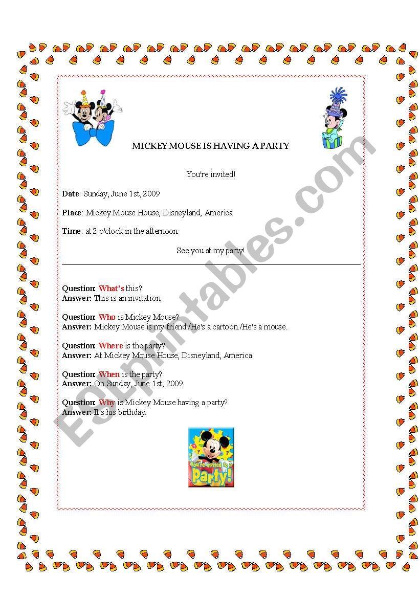 Worksheets Mouse Party Worksheet Cheatslist Free Worksheets For