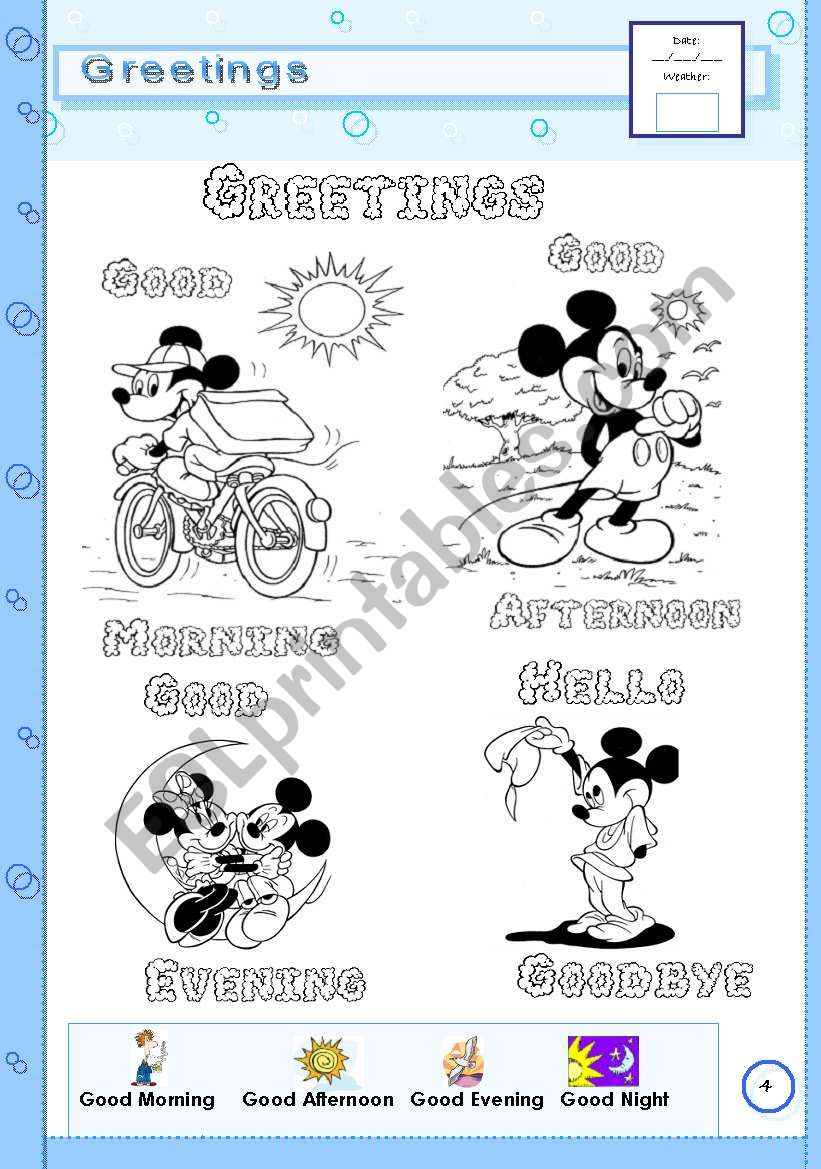 Greetings - page 4 worksheet