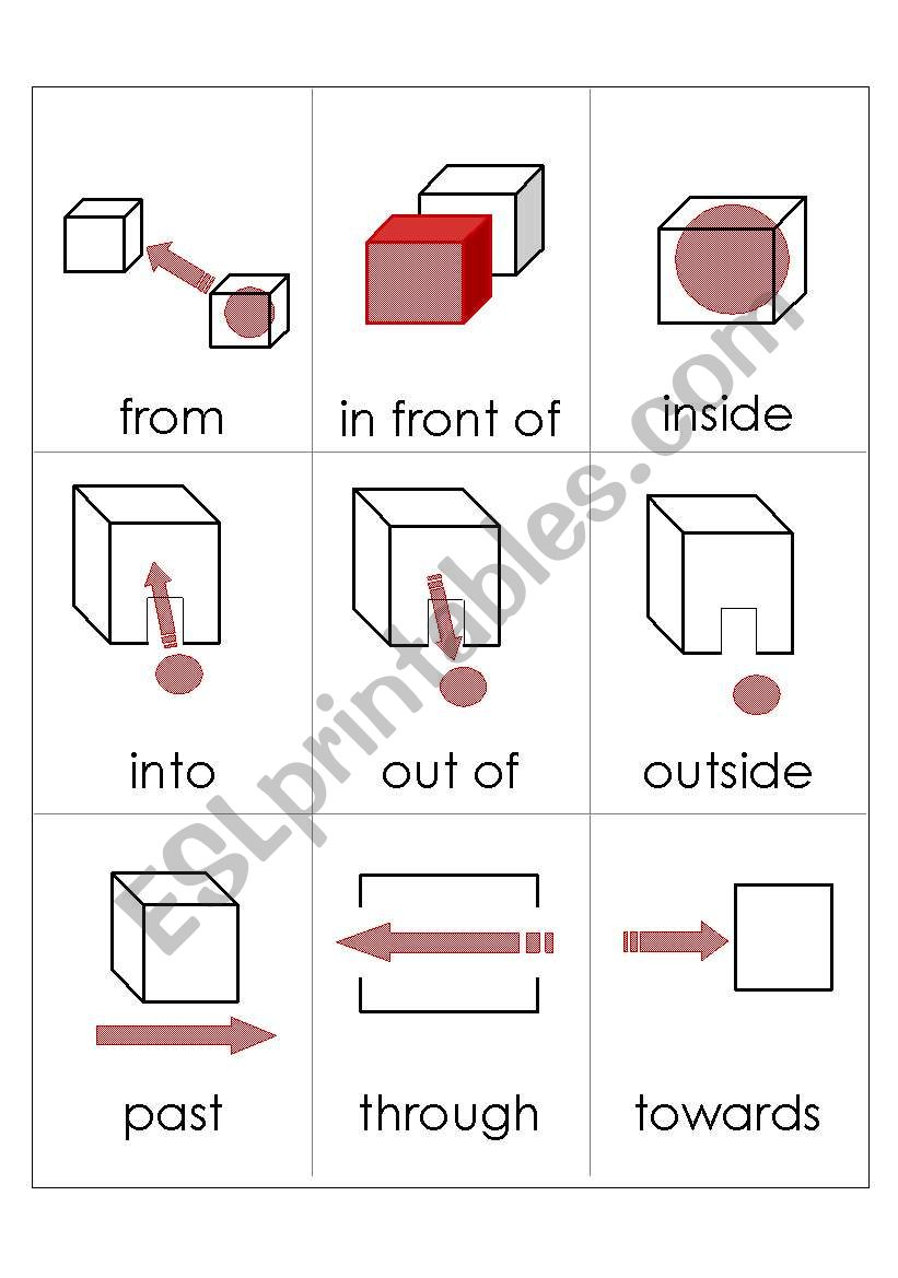 english worksheets giving directions double sided flashcards part 3. Black Bedroom Furniture Sets. Home Design Ideas