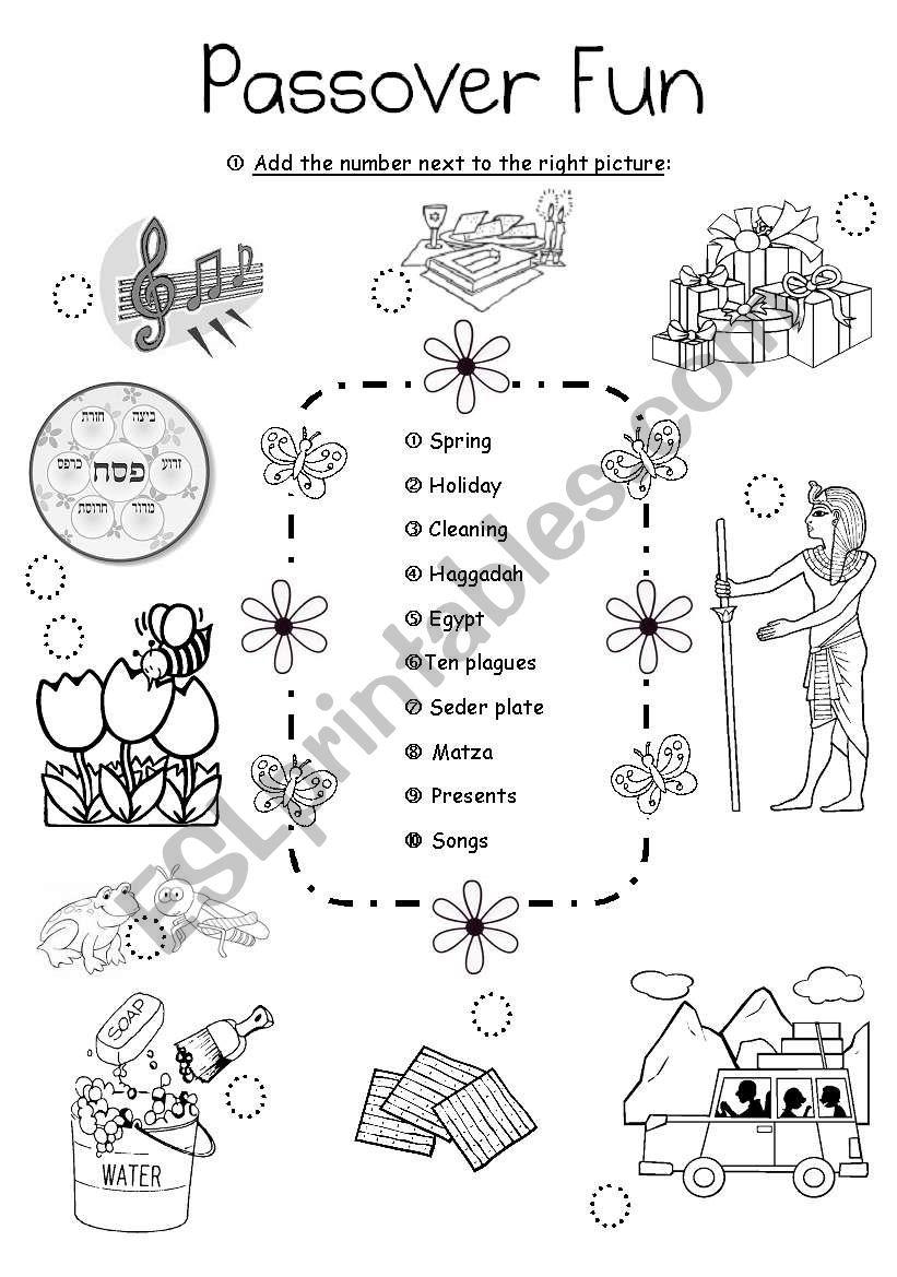 Passover Fun 2 - ESL worksheet by Aimee/S.