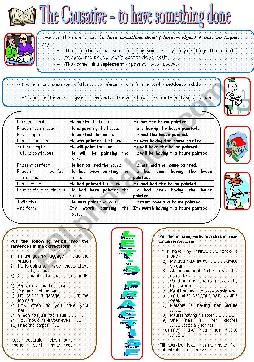 Causative worksheet